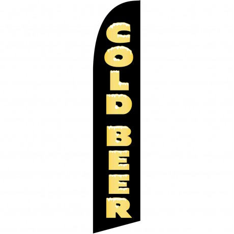 Cold Beer Black Windless Swooper Flag