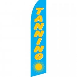 Tanning Blue Swooper Flag