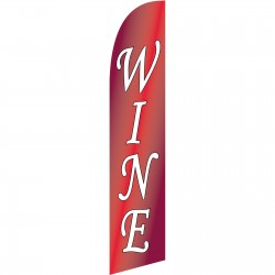 Wine Red Windless Swooper Flag