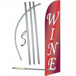 Wine Red Windless Swooper Flag Bundle