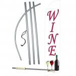 Wine Windless Swooper Flag Bundle