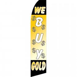 We Buy Gold Swooper Flag
