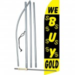 We Buy Gold Black Swooper Flag Bundle
