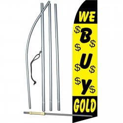 We Buy Gold Yellow Swooper Flag Bundle