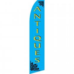 Antiques Blue Swooper Flag