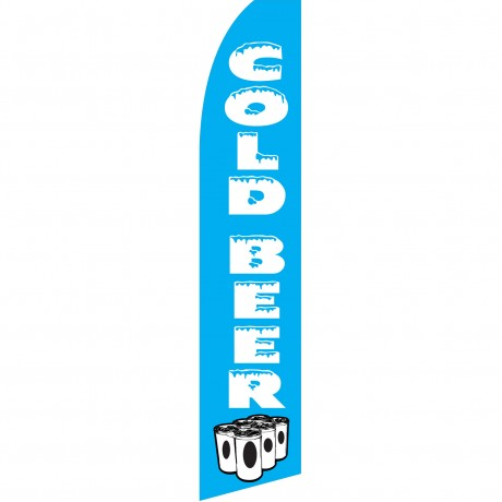 Cold Beer Cans Swooper Flag