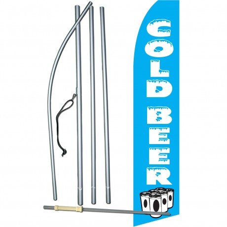Cold Beer Cans Swooper Flag Bundle