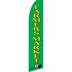 Farmers Market Green Swooper Flag