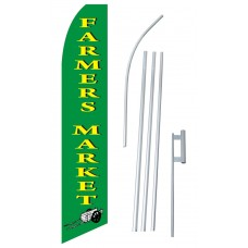 Farmers Market Green Swooper Flag Bundle