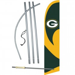 Green Bay Packers Windless Swooper Flag Bundle
