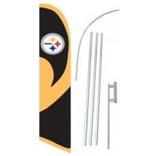 Pittsburgh Steelers Windless Swooper Flag Bundle
