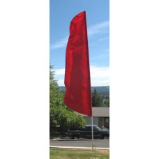 Nylon 3' Wide Solid Red Feather Flag