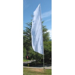 Nylon 3' Wide Solid White Feather Flag