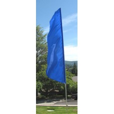 Nylon 3' Wide Solid Blue Feather Flag