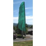 Nylon 3' Wide Solid Green Feather Flag