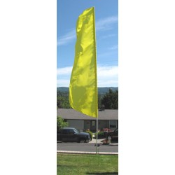 Nylon 3' Wide Solid Yellow Feather Flag