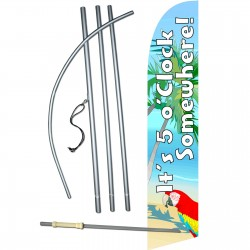 5 O'Clock Somewhere Windless Swooper Flag Bundle