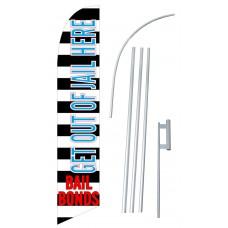 Bail Bonds Stripes Windless Swooper Flag Bundle