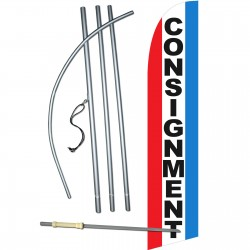 Consignment Red White Blue Windless Swooper Flag Bundle