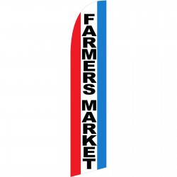 Farmers Market Red White Blue Windless Swooper Flag