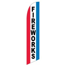 Fireworks Red White Blue Windless Swooper Flag