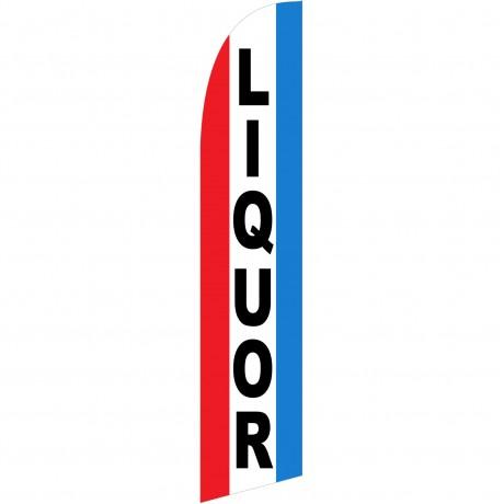 Liquor Red White Blue Windless Swooper Flag