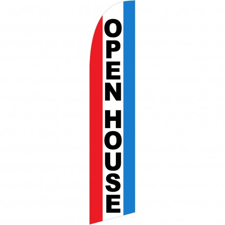 Open House Red White Blue Windless Swooper Flag
