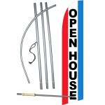 Open House Red White Blue Windless Swooper Flag Bundle