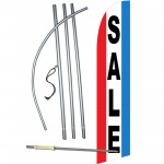 Sale Red White Blue Windless Swooper Flag Bundle
