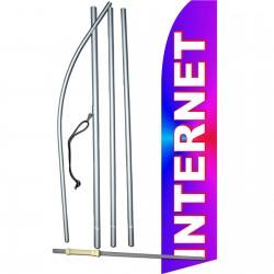 Internet Purple Swooper Flag Bundle
