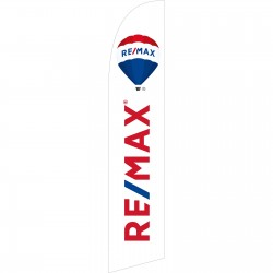 Remax White Windless Swooper Flag