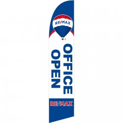 Remax Open Office White Blue Windless Swooper Flag