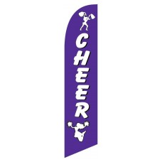 Cheer White/Purple Windless Swooper Flag