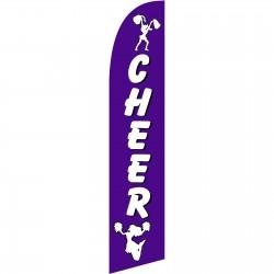 Cheer White/Purple Windless Swooper Flag