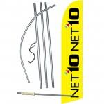 Net 10 Windless Swooper Flag Bundle