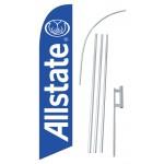 Allstate Blue Windless Swooper Flag Bundle