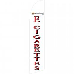 E-Cigarettes White Windless Swooper Flag