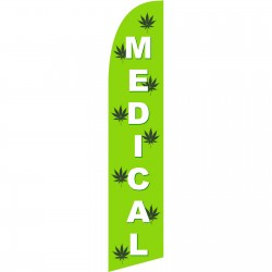 Medical Marijuana Windless Swooper Flag