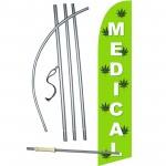 Medical Marijuana Windless Swooper Flag Bundle