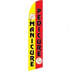 Pedicure Manicure Windless Swooper Flag