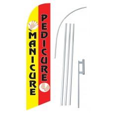 PEDICURE/MANICURE Windless Swooper Flag Bundle