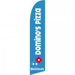Domino's Pizza Windless Swooper Flag