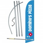 Domino's Pizza Windless Swooper Flag Bundle