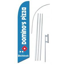 Domino's Pizza Windless Swooper Flag Bundle