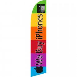 We Buy iPhones Windless Swooper Flag
