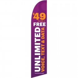 Solavei Purple $49 Unlimted Windless Swooper Flag