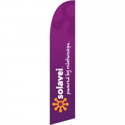 Solavei Powered By Relationships Swooper Flag