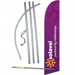 Solavei Powered By Relationships Swooper Flag Bundle