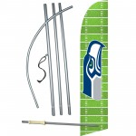 Seattle Seahawks Field Windless Swooper Flag Bundle