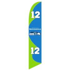 Seattle Seahawks 12th Man Windless Swooper Flag